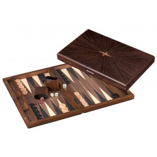 Backgammon set in Wood Cyclades Rinia L