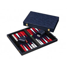 Backgammon Board M, Classic in Blue