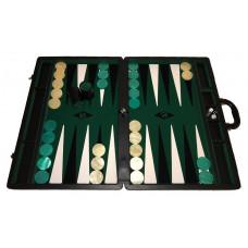 Backgammon set XXL Popular Green 50 mm Stones