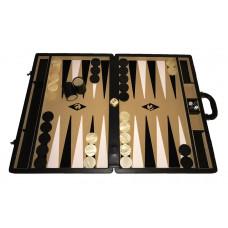 Backgammon set XXL Popular Beige 50 mm Stones