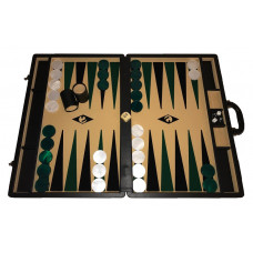 Backgammon set XXL Popular Beige 50 mm Stones