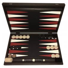 Backgammon Board in Wood & Leatherette Strogyli L