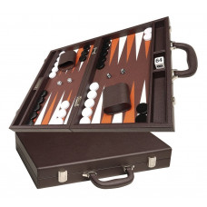 Silverman & Co Favour M Backgammon Board in Dark Brown