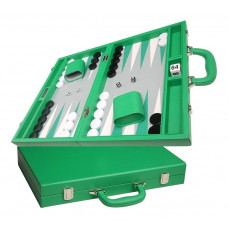 Silverman & Co Favour M Backgammon Board in Green