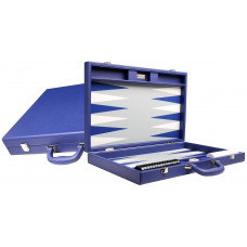 Silverman & Co Premium L Backgammon Board in Blue