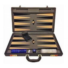 Backgammon set XL Popular Gray 45 mm Stones