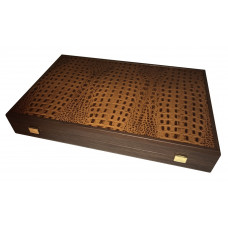 Backgammon Board of Wood & Leather Grambousa L
