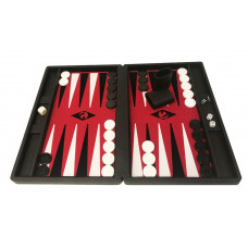 Backgammon set M Popular 36 mm Stones BL-RE-BL-WH