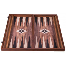 Backgammon Board in Walnut Poseidon L