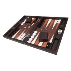 Silverman & Co Smooth  Backgammon in Dark Brown