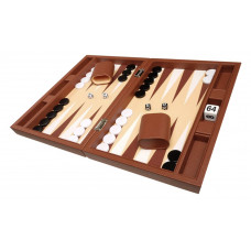 Silverman & Co Smooth  Backgammon in Brown