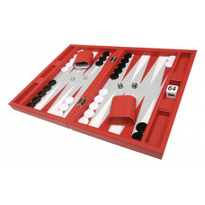 Silverman & Co Smooth  Backgammon in Red