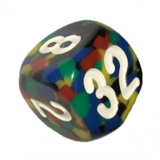 Doubling Cube Handmade 34 mm Multicolor