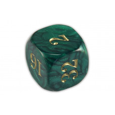 Doubling Cube Acrylic in Dark Green 22 mm