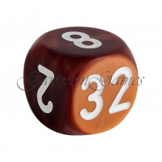 Doubling Cube Handmade in Brown 30 mm