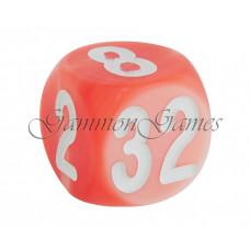 Doubling Cube Handmade in Orange 30 mm