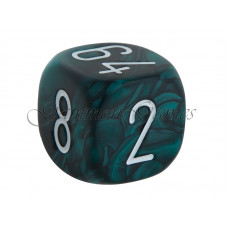 Doubling Cube Marbled in  Gray 30 mm