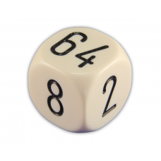 Doubling Cube Solid in Ivory 30 mm (0125)