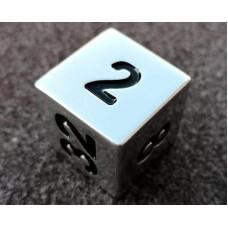Backgammon Doubling Cube Handmade 25 mm Alu