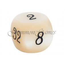 Doubling Cube Pearl in Ivory 30 mm