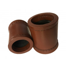 Backgammon Official Round Dice Cups Crisloid in Brown