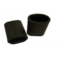 Backgammon Leather Dice Cups Oval in Black