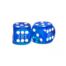 Backgammon Precision Dice Numbered in Blue 13 mm