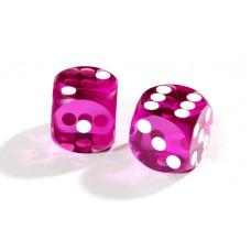 Official Precision Dice for Backgammon 14 mm Purple
