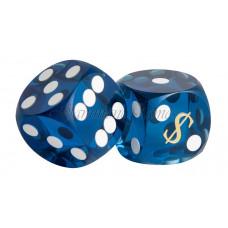Backgammon Precision Dice Las Vegas in Blue 14 mm