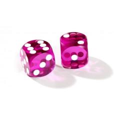 Official Precision Dice for Backgammon 13 mm Purple