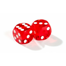 Official Precision Dice for Backgammon 13 mm Orange