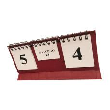 Backgammon Score Board Folding design in red
