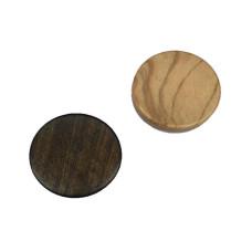 Backgammon Stones made of Olive-wood Diam 26 mm