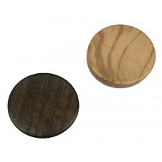 Backgammon Stones made of Olive-wood Diam 37 mm