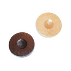 Backgammon Stones made of Pinewood Diam 26 mm