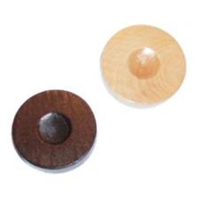 Backgammon Stones made of Pinewood Diam 37 mm