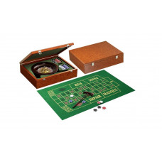 Roulette complete set made of wood Classic design
