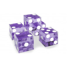 Casino Precision Dice Set of 5 Serial Numbered in Violet