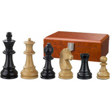 Wooden Chess Pieces Ludwig XIV hand-carved KH 110 mm
