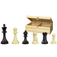 Chessmen plastic Nerva Box in Black and Ivory KH 95 mm