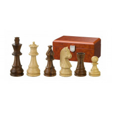 Wooden Chess Pieces hand-carved Titus KH 76 mm