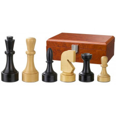 Wooden Chess Pieces 95 mm Modern Style Romulus