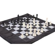 Regulation Tournament Staunton Chess set in Cinch Bag