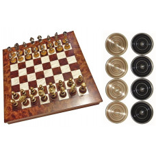 Chess & Draughts Not Foldable XL Elegant