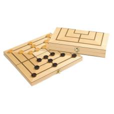 Nine Men's Morris / Mills Wooden Cassette design M