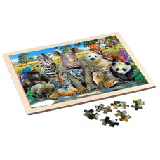 Puzzle Wooden 48 pcs - Exotic Wildlife