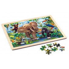 Puzzle Wooden 48 pieces - Junior Jungle